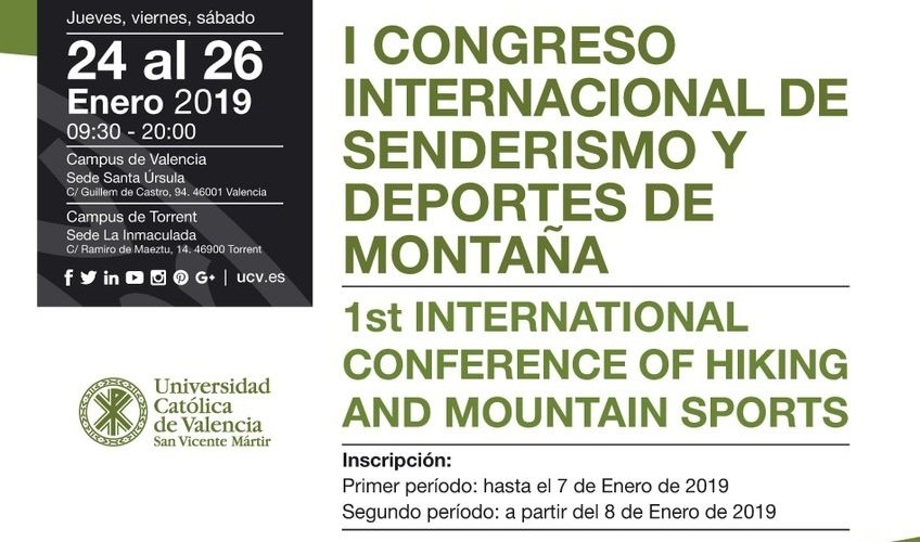 Valencia hosts the 1st International Conference of Hiking and Mountain Sports
